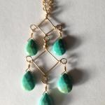 MKA048 Turquoise pyramid with gf wire $309