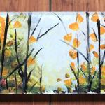 Forest Hostess Tray Acrylic with reverse painting $135