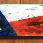 Texas Flag Acrylic with Reverse Painting $135
