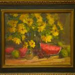 Watermelon with Yellow Bouquet 16 x 20 Oil $1800