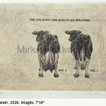 Holstein Limited Edition Etching, Chine Colle 6 x 8 $49