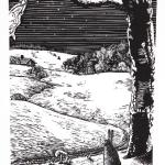 Quiet Winter Wood Engraving $125 Framed