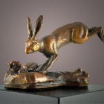 "Blacktailed Jack Bronze Jackrabbit #13/20 3""h x 4""w x 2""d  $400.00"