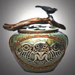"Bearer of Gifts Bronze Raven Vessel 12.5 h x 14"" diameter 18/50  $5600.00"