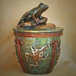 "Guardian of the Waters Bronze Frog Vessel #12/30 8""h x 6"" diameter  $2399 Currently available by order only."