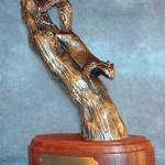 "Out on a Limb Bronze squirrel #13/30 7""h x 2"" w  $500,00"