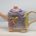 All Buttoned Up Teapot $150