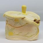Yellow Flower Jelly Jar Back
