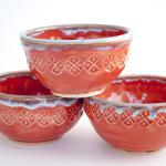 Stamped Bowl - Red and Orange $25