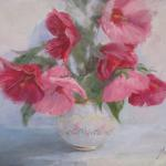 Shades of Pink 11 x 14 Oil $550