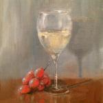 Glass of Wine 10 x 8 Oil $450