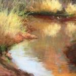 Pond Grasses - Judge's Choice Award Linda Dellandre 20 x 18 Pastel  $1500