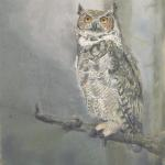Great Horned Owl Lynne Jordan 19 x 13 Pastel  $750
