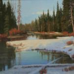 Alturas Creek View Chuck Rawle 20 x 30 Oil on Linen Panel  $3100