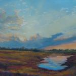 Crossing the Brazos Bottoms  16 x 20 Pastel $1600