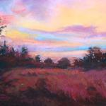 Back Acre Evening 11 x 14 Pastel $650