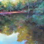 Pond Reflection 14 x 11 Pastel $650