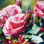 Roses 22 x 30 Watercolor on Aquabord $1850