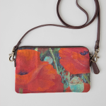 Crimson Poppy Clutch