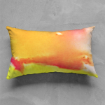 Hot Cha Abstract Oblong Pillow